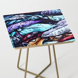 Foliage watercolor painting art Side Table