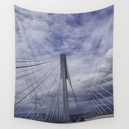 Port Mann Bridge Vancouver BC Wall Tapestry