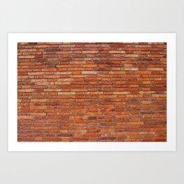 Red Brick Wall Pattern Art Print