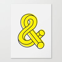 ampersand Canvas Prints featuring Ampersand by MADEYOUL__K