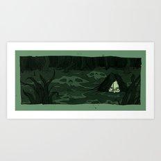 The Moon Bog Art Print