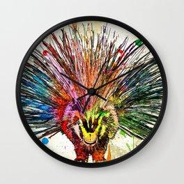 Porcupine Grunge Wall Clock