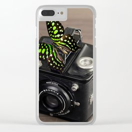 Kodak Camera and Butterfly Clear iPhone Case