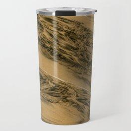 Water And Sand Abstract Travel Mug