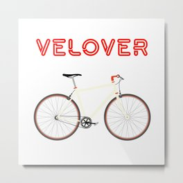 VeLover – Racer – June 12th – 200th Birthday of the Bicycle Metal Print