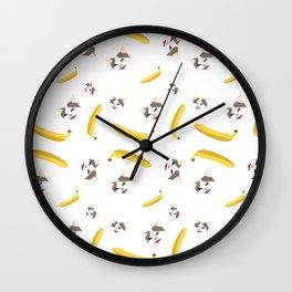 Cat No Banana Wall Clock
