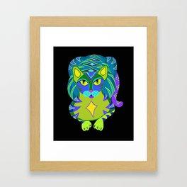 Peacock Tabby Noire Framed Art Print