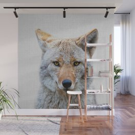 Coyote - Colorful Wall Mural