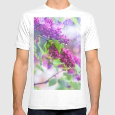 Spring rain White Mens Fitted Tee LARGE