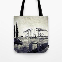 Vincent Van Gogh - Drawbridge at Arles 2 (Vintage) Tote Bag
