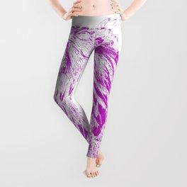 she's a beauty drawing, purple Leggings