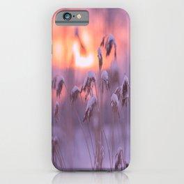 Snowy Reeds Sunset Purple Tone #decor #society6 #buyart iPhone Case