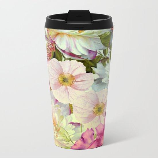 full of flowers Metal Travel Mug