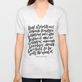 Herman Melville Quote Unisex V-Neck