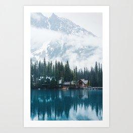 Emerald Lake Lodge II Art Print
