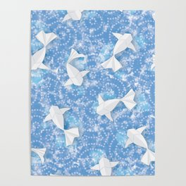 Origami Koi Fishes (Sky Pond Version) Poster