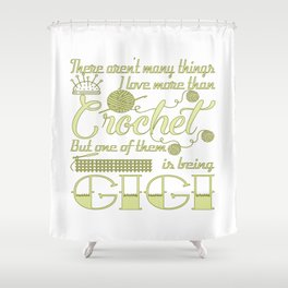 Crochet Gigi Shower Curtain