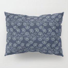 Georgian Floral in Classic Blues Pillow Sham