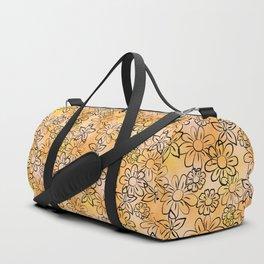 Flower Art - Peach Duffle Bag