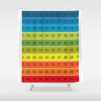 the 100 Shower Curtains featuring 1-100 by nuuk