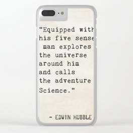 Edwin Hubble quote Clear iPhone Case