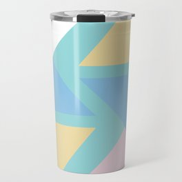 Triangle origami pastel pattern art Travel Mug