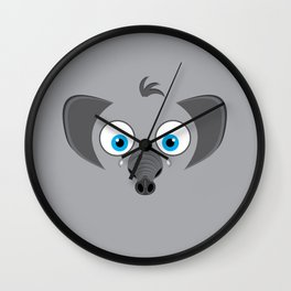 Cartoon Elephant Wall Clock