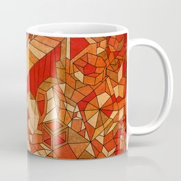 Path in brown and orange 3d landscape Coffee Mug
