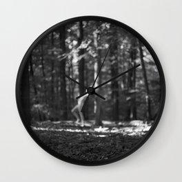 nymph / bw Wall Clock