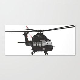 Black Helicopter Canvas Print