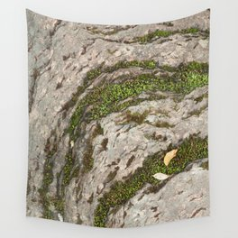 Mossy Stone Curves Wall Tapestry