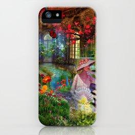 Spring in my floral dream digital illustration art iPhone Case