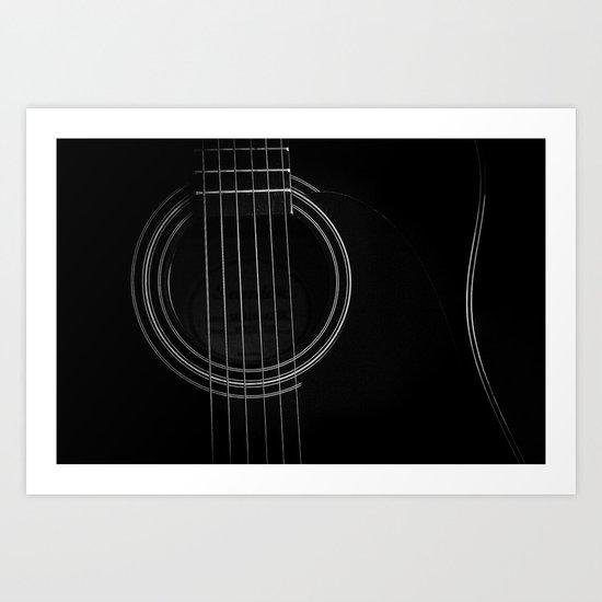 Guitar, Guitar Art Print