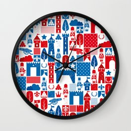 The Great War of Toy Soldiers Wall Clock