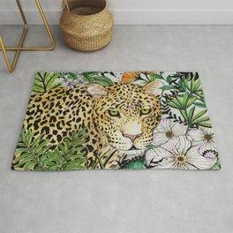 Jaguar in the jungle Rug
