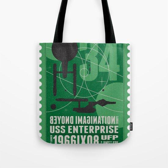 Beyond imagination: USS Enterprise postage stamp  Tote Bag