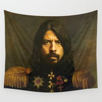 dave grohl Wall Tapestries featuring Dave Grohl - replaceface by replaceface