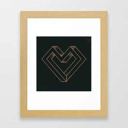 le coeur impossible (nº 6) Framed Art Print