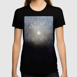 Glowing Moon in the night sky T-shirt