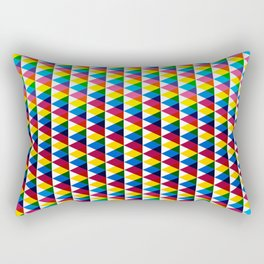 Triangle vintage multiply pattern Rectangular Pillow