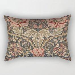 William Morris Honeysuckle Tuscany Italian Textile Floral Pattern Rectangular Pillow