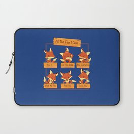 All The Fox I Give Laptop Sleeve