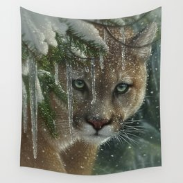 Cougar / Mountain Lion - Frozen Wall Tapestry