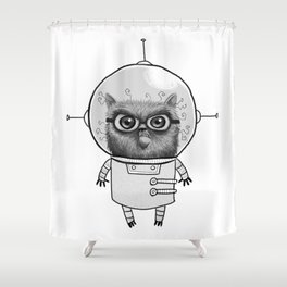 space-cat Shower Curtain