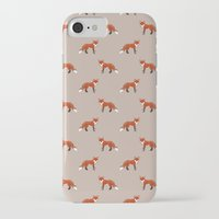 foxes iPhone & iPod Cases featuring Foxes by Abby Galloway