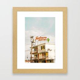 Sahara Motel Framed Art Print