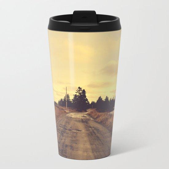 The Road Not Taken Metal Travel Mug