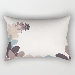 Creative Vector Illustration from Random Colorful Flowers Rectangular Pillow