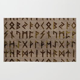 Ancient Celtic Runes  Alphabet pattern Rug