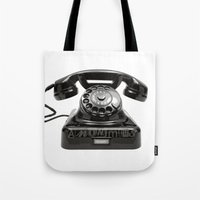 anonymous Tote Bags featuring Anonymous by bravo la fourmi